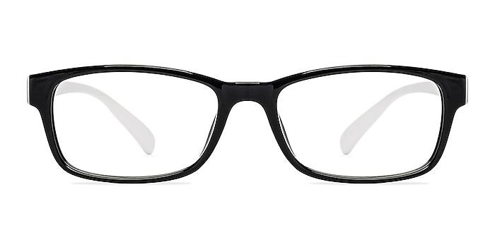 Danny  Black/White  Plastic Eyeglass Frames from EyeBuyDirect