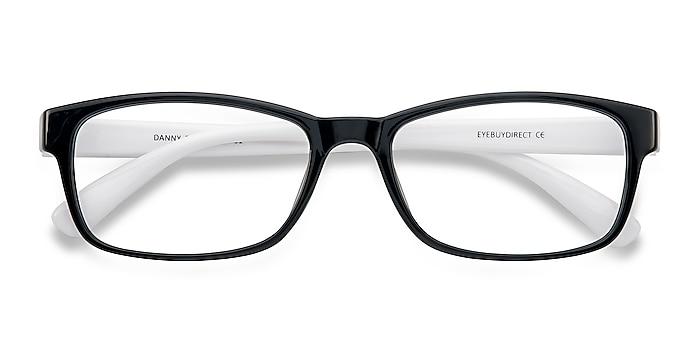 Black/White  Danny -  Lightweight Plastic Eyeglasses