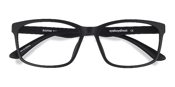 Matte Black Boston -  Classic Plastic Eyeglasses