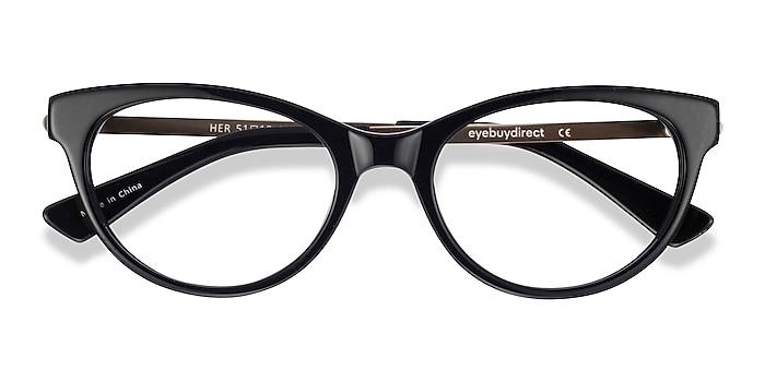 Black Her -  Fashion Acetate, Metal Eyeglasses