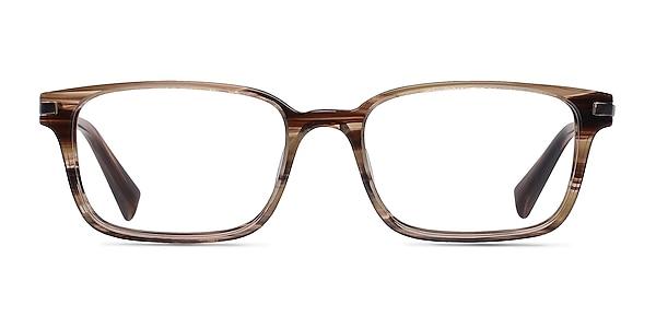 Dreamer Brown/Striped Acetate-metal Eyeglass Frames