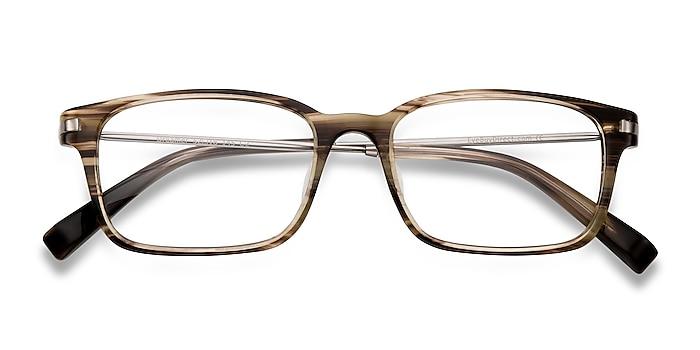 Brown/Striped Dreamer -  Designer Acetate, Metal Lunettes de vue