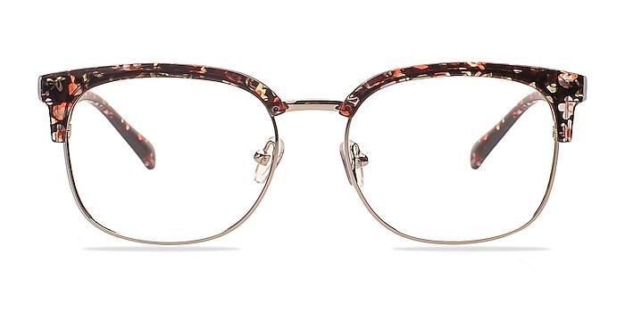 Charleston Silver/Floral Plastic-metal Eyeglass Frames from EyeBuyDirect