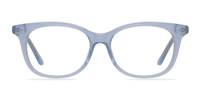 Brittany Clear Blue Acetate Eyeglass Frames from EyeBuyDirect