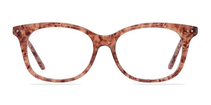 Brittany Brown/Floral Acetate Eyeglass Frames from EyeBuyDirect