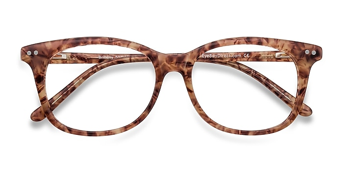 Brown/Floral Brittany -  Colorful Acetate Eyeglasses
