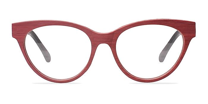Jane Birkin Berry Red Acetate Eyeglass Frames from EyeBuyDirect