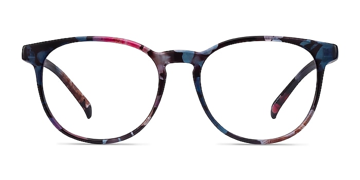 Chilling Pink/Floral Plastic Eyeglass Frames from EyeBuyDirect
