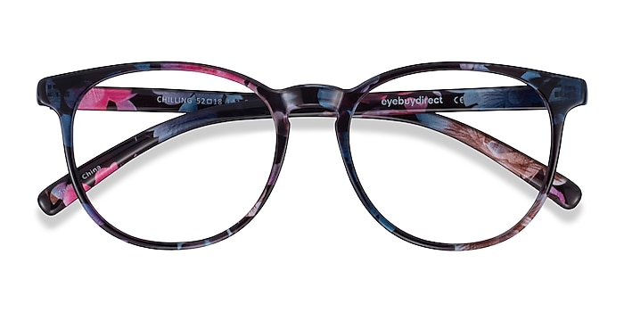 Pink/Floral Chilling -  Lightweight Plastic Eyeglasses