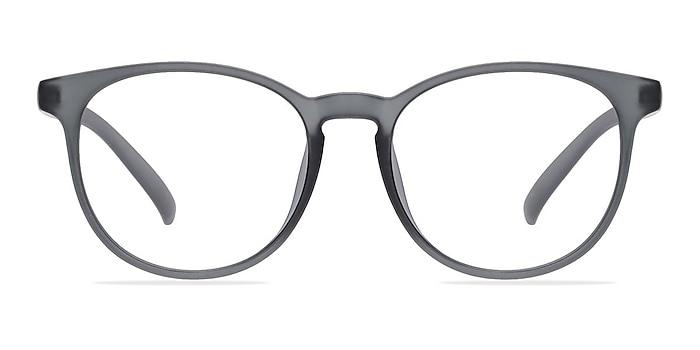 Chilling Matte Gray Plastic Eyeglass Frames from EyeBuyDirect