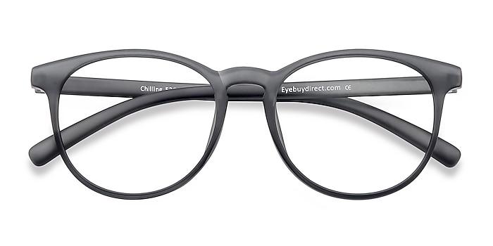 Matte Gray Chilling -  Lightweight Plastic Eyeglasses
