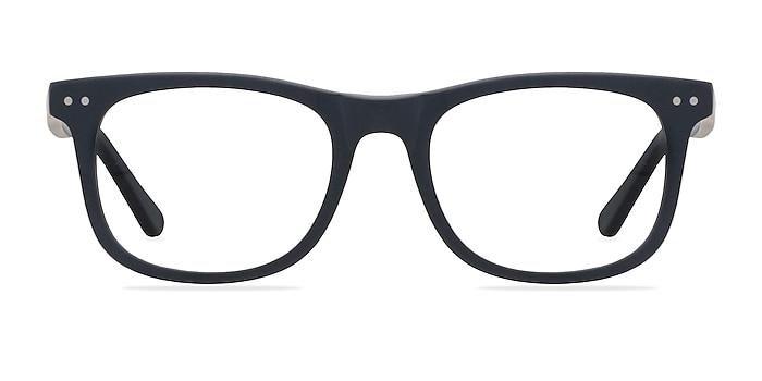 Montreal Matte Navy Acetate Eyeglass Frames from EyeBuyDirect