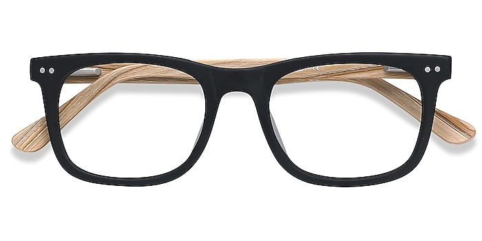 Matte Black Montreal -  Acetate Eyeglasses
