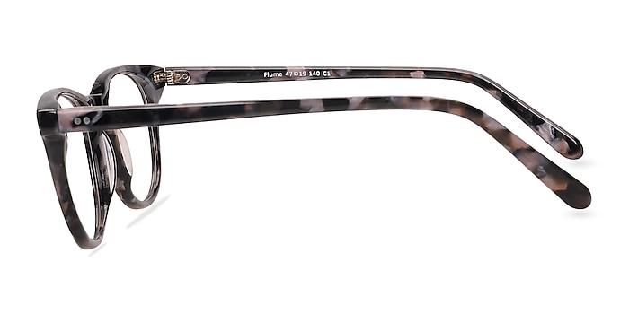 Flume Gray/Floral Acétate Montures de lunettes de vue d'EyeBuyDirect