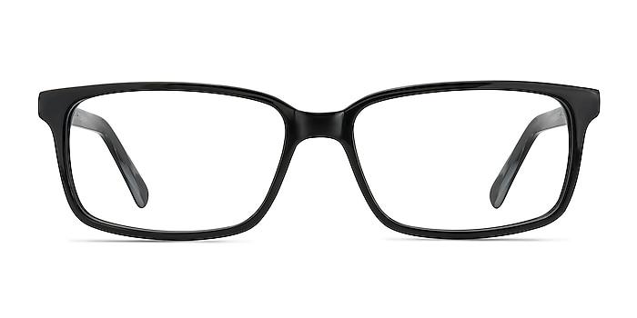 Denny Black/Gray Acetate Eyeglass Frames from EyeBuyDirect