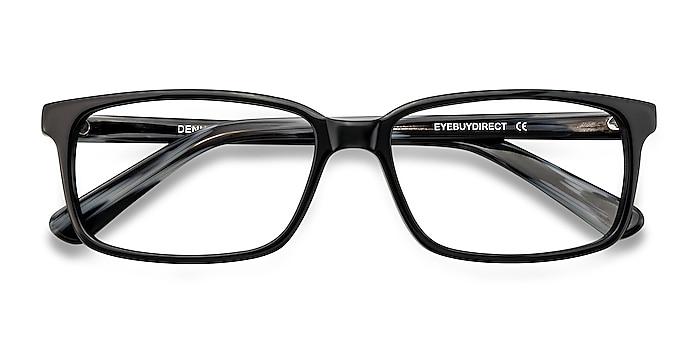 Black/Gray Denny -  Acetate Eyeglasses