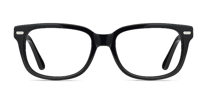 Little John Black Acetate Eyeglass Frames from EyeBuyDirect