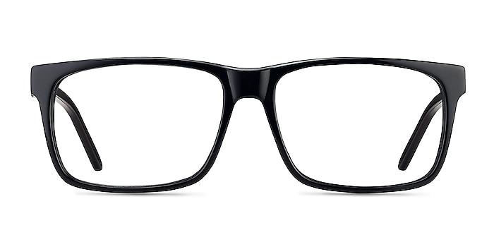 Sydney Black Acetate Eyeglass Frames from EyeBuyDirect