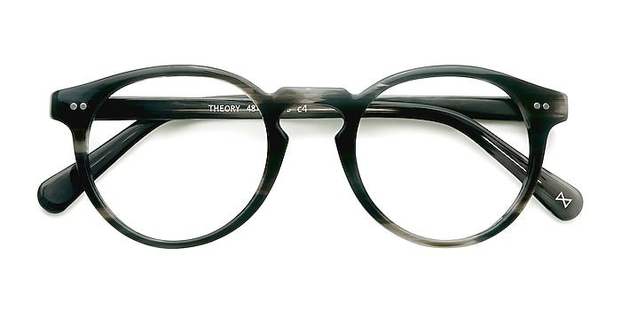 Striped Granite Theory -  Geek Acetate Eyeglasses