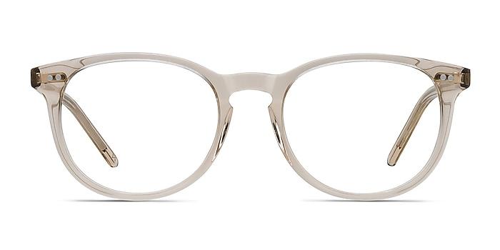 Aura Champagne Acetate Eyeglass Frames from EyeBuyDirect