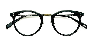 Charcoal Nostalgia -  Geek Acetate, Metal Eyeglasses