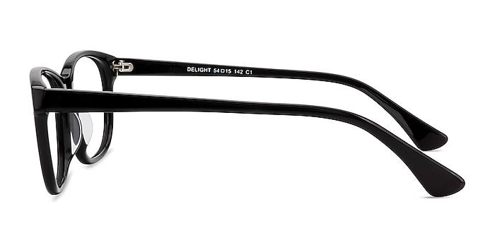 Delight Black Acetate Eyeglass Frames from EyeBuyDirect