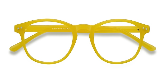 Yellow Instant Crush -  Fashion Plastic Eyeglasses