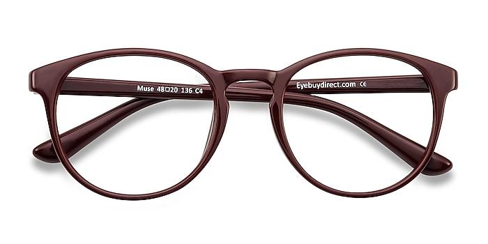 Dark Red Muse -  Fashion Plastic Eyeglasses