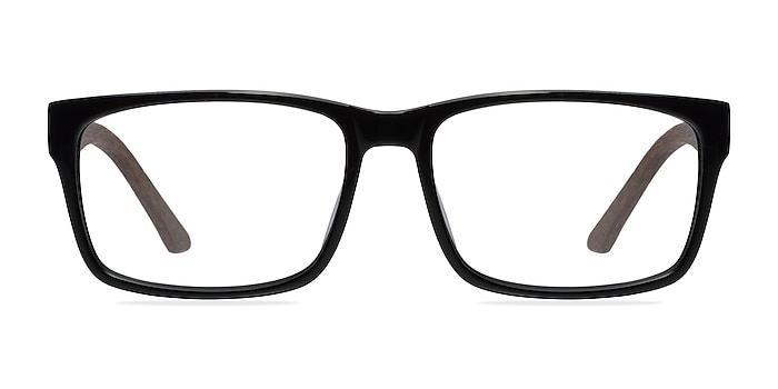 Lexington Black/brown Acétate Montures de lunettes de vue d'EyeBuyDirect