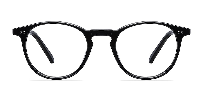 Kyoto  Black  Acetate Eyeglass Frames from EyeBuyDirect