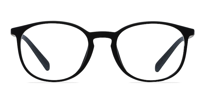 Dinah Matte Black Plastic Eyeglass Frames from EyeBuyDirect