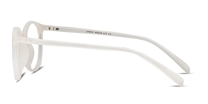 Dinah White Plastic Eyeglass Frames from EyeBuyDirect