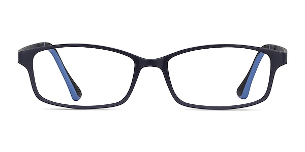Broad Navy Plastic Eyeglass Frames