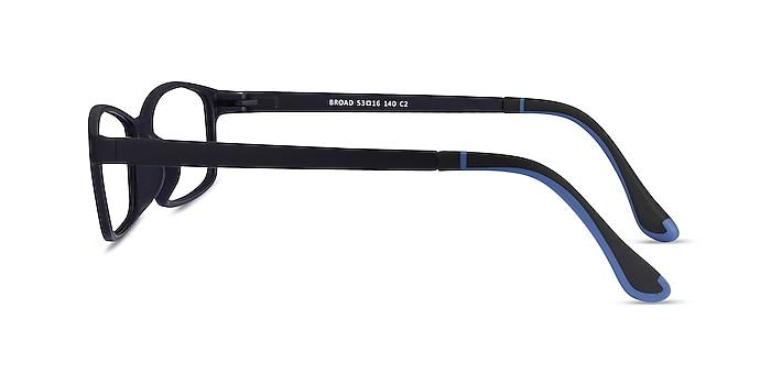 Broad Navy Plastic Eyeglass Frames from EyeBuyDirect