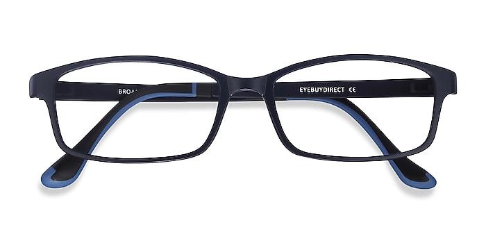 Navy Broad -  Lightweight Plastic Eyeglasses