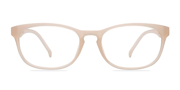 Drums Frosted White Plastic Eyeglass Frames