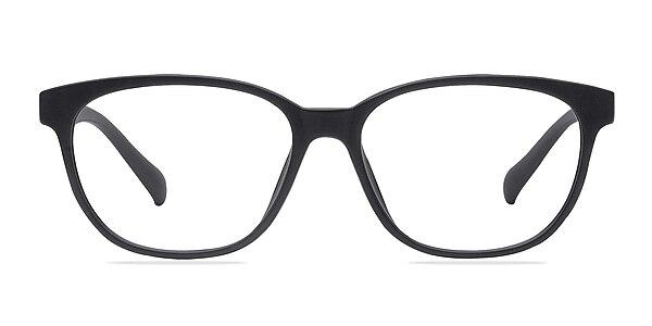 Moody Matte Black Plastic Eyeglass Frames