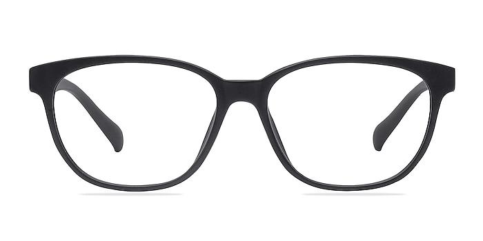 Moody Matte Black Plastique Montures de lunettes de vue d'EyeBuyDirect