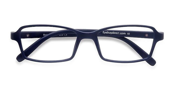 Matte Navy Ricki -  Lightweight Plastic Eyeglasses