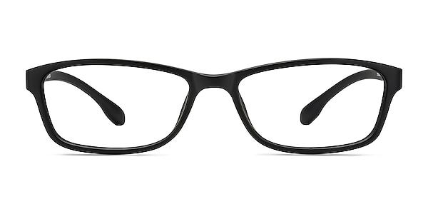 Versus Matte Black Plastic Eyeglass Frames