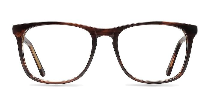 Skyline Brown Striped Acetate Eyeglass Frames from EyeBuyDirect
