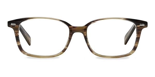 Sway Brown Striped Acetate Eyeglass Frames