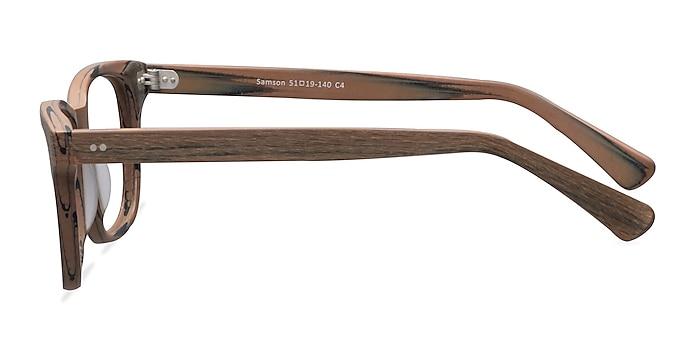 Samson  Brown Striped  Acetate Eyeglass Frames from EyeBuyDirect