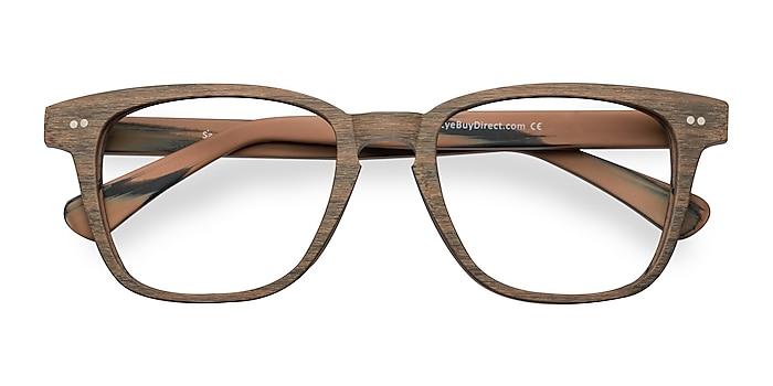 Brown Striped  Samson -  Acetate Eyeglasses