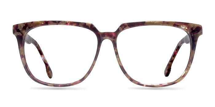 Capucine Red Floral Acétate Montures de lunettes de vue d'EyeBuyDirect