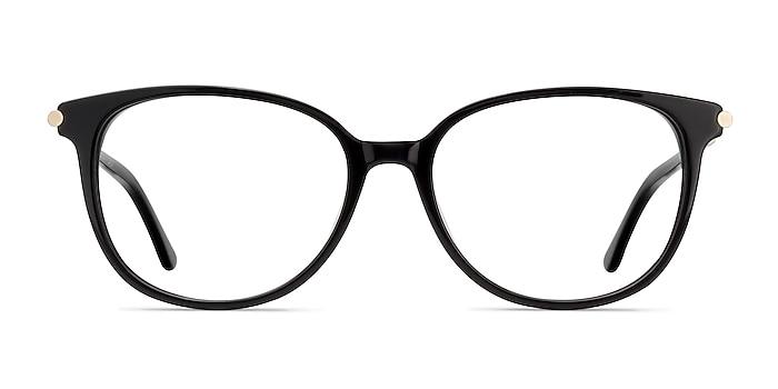 Jasmine Black Acetate Eyeglass Frames from EyeBuyDirect