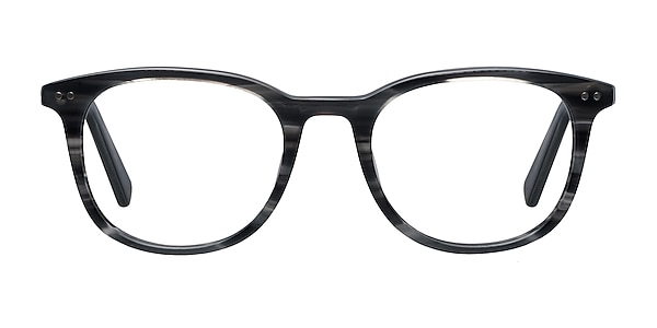 Demain  Gray Striped  Acetate Eyeglass Frames