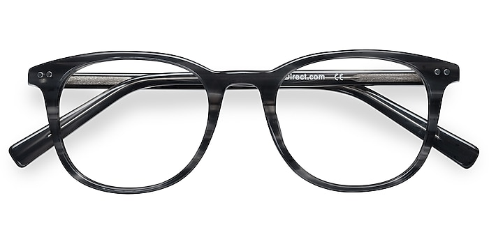 Gray Striped  Demain -  Acetate Eyeglasses