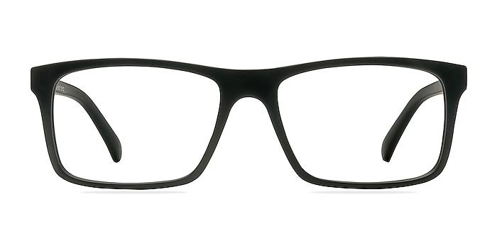 Persian Matte Black Plastic Eyeglass Frames from EyeBuyDirect