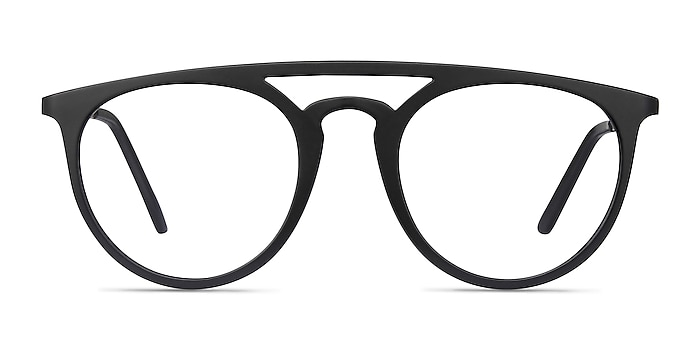 Fiasco Matte Black Plastic Eyeglass Frames from EyeBuyDirect